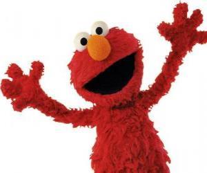 puzzel Elmo glimlachen