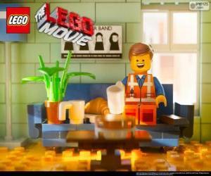 puzzel Emmet, de protagonist van de film van Lego
