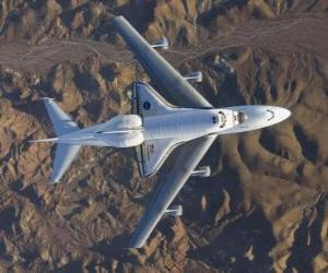 puzzel Endevor Space Shuttle die op een 747