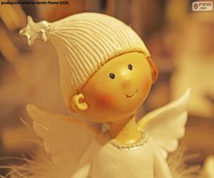 puzzel Engel van Kerstmis