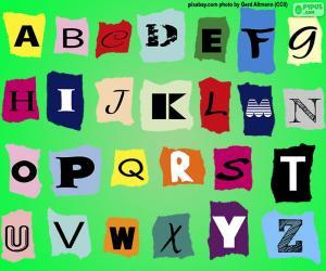 puzzel Engels alfabet