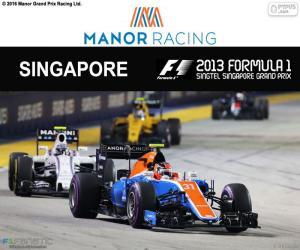 puzzel Esteban Ocon, Grand Prix van Singapore 2016