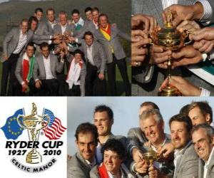 puzzel Europa wint de Ryder Cup 2010