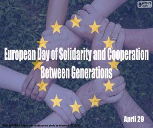 puzzel Europese Dag van solidariteit en samenwerking tussen generaties