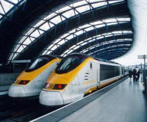 puzzel Eurostar hogesnelheidstrein