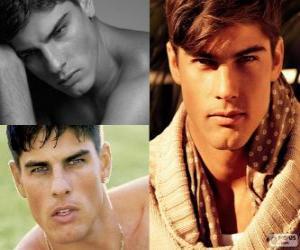 puzzel Evandro Soldati is een Braziliaans model