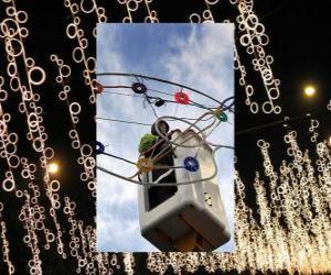puzzel exploitant plaatsen sier kerstverlichting