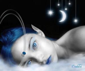 puzzel Fairy blauwe ogen
