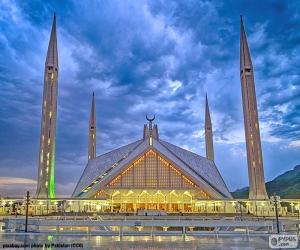 puzzel Faisal moskee, Pakistan
