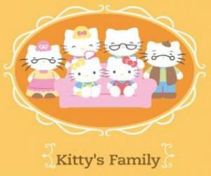 puzzel Familie Hello Kitty's