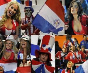 puzzel Fans van Paraguay, Argentinië 2011