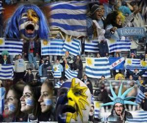puzzel Fans van Uruguay, Argentinië 2011