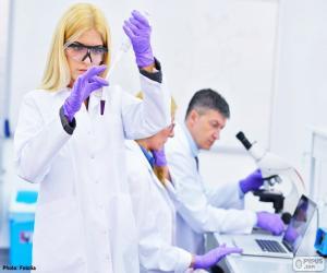 puzzel Farmaceutisch laboratorium