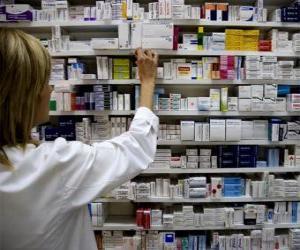 puzzel Farmaceutische nemen van een medicatie