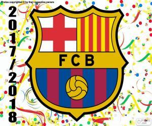 puzzel FC Barcelona, 2017-18 kampioen