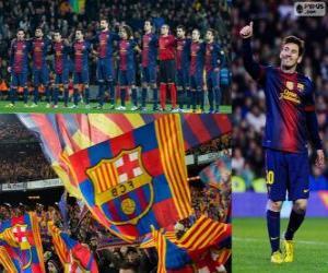 puzzel FC Barcelona, kampioen 2012-2013