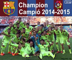 puzzel FC Barcelona, kampioen 2014-2015