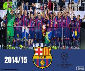 puzzel FC Barcelona kampioen Champions League 14-15
