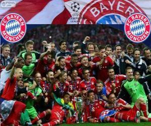 puzzel FC Bayern München, kampioen van de UEFA Champions League 2012–13