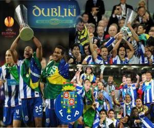 puzzel FC Porto, de kampioen van de UEFA Europa League 2010-2011
