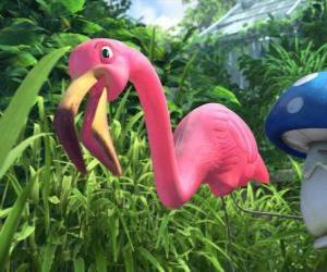 puzzel Featherstone, een eenzame flamingo