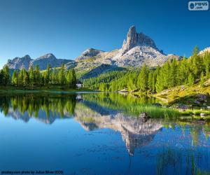 puzzel Federa Lake, Italië