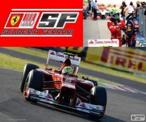 puzzel Felipe Massa - Ferrari - Grand Prix van Japan 2012, 2 nd ingedeeld