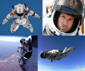 puzzel Felix Baumgartner springen stratosfeer