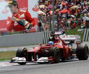 puzzel Fernando Alonso - Ferrari - Grand Prix van Spanje (2012) (2e plaats)