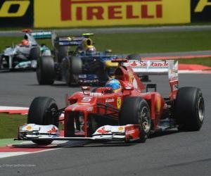 puzzel Fernando Alonso - Ferrari - Grand Prixe Engeland 2012, 2e plaats