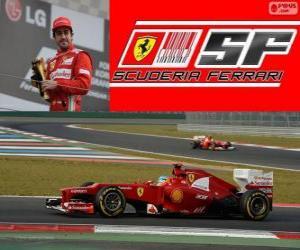 puzzel Fernando Alonso - Ferrari - Grand Prix van Korea in het zuiden 2012, 3e ingedeeld