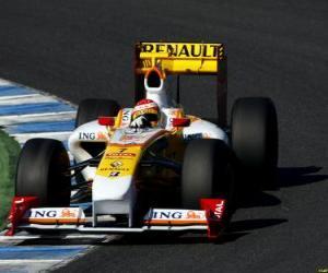 puzzel Fernando Alonso loodsen zijn F1