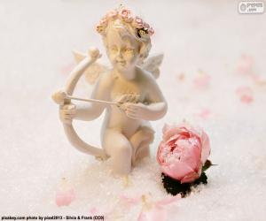 puzzel Figuur van Cupido met boog