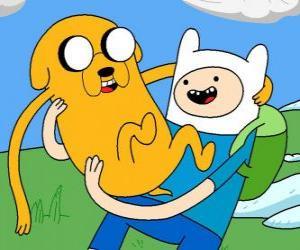 puzzel Finn en Jake, de belangrijkste protagonisten van Tijd voor Avontuur, Adventure Time