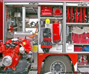 puzzel Fire truck apparatuur
