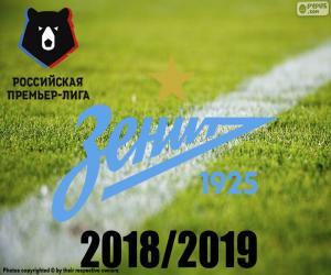 puzzel FK Zenit, kampioen 2018-2019