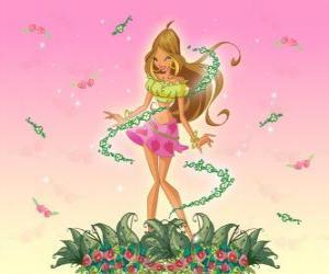 puzzel Flora, Fee van bloemen