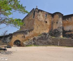 puzzel Fort Jesus, portugese fort gelegen in Mombasa (Kenia)