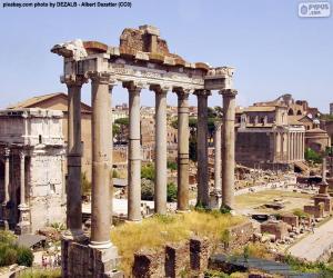 puzzel Forum Romanum, Rome
