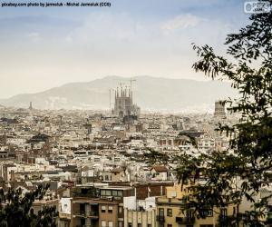 puzzel Foto van Barcelona