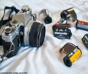puzzel Fotografische camera reflex