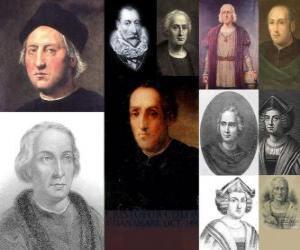 puzzel Foto's van Christoffel Columbus was de admiraal het bevel over de expeditie die naar Amerika kwamen in 1492
