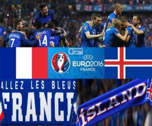 puzzel FR-IS, kwartfinale Euro 2016
