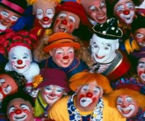 puzzel Fractie van de clowns