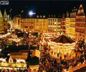 puzzel Frankfurt kerstmarkt