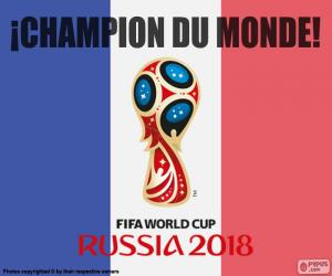 puzzel Frankrijk, kampioen van de wereld 2018