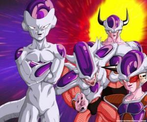 puzzel Frieza, een superschurk en een grote vijand van Goku kan leven zwevend in de ruimte