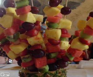 puzzel Fruit brochette