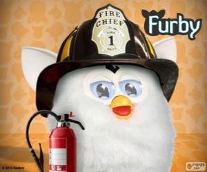 puzzel Furby brandweerman