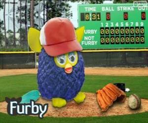 puzzel Furby speelt honkbal